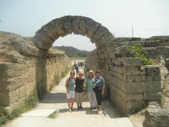 Chat Tours - Day Tours: Arch (this was a tunnel) through which the Olympic athletes walked onto the competition field