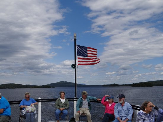 Katahdin Cruises and Moosehead Marine Museum: great view of old glory