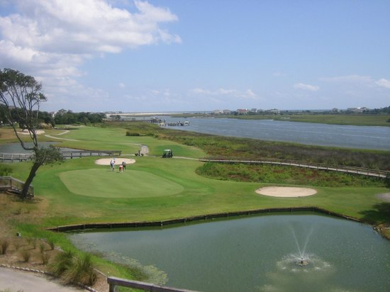 The View at Brick Landing Plantation : View of the Intracoastal and ocean from upstairs at The View.