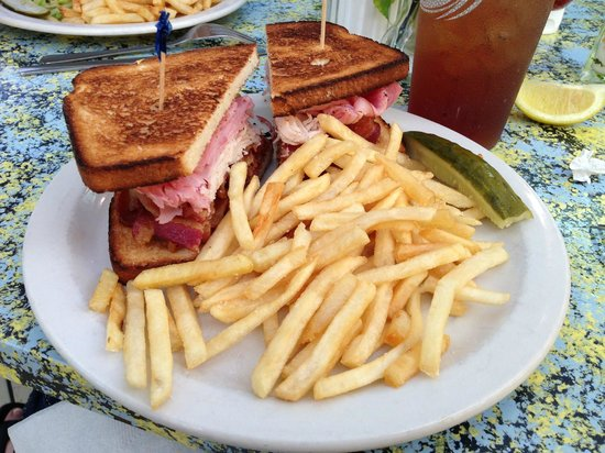"""Sunflower Cafe: """"The Triple"""" with no veggies.  Ham, turkey and bacon... a TON of bacon!  It was good!"""