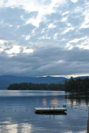 Bonnie View on Lake George: swim platform