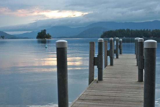 Bonnie View on Lake George: one of many docks