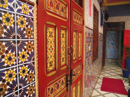 Hostel Riad Marrakech Rouge : colori