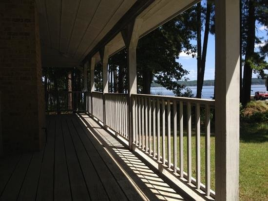 Falls Lake State Recreation Area : Rolling View Beach-view from restrooms and Large picnic shelter-Falls Lake State Park