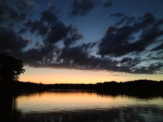 Falls Lake State Recreation Area : Sunset at Falls Lake Dam