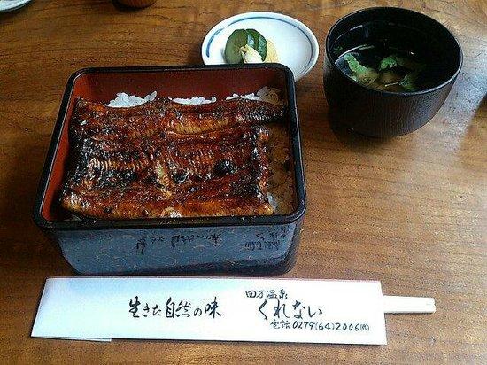 Kurenai Ryokan : 「くれない」のウナギ蒲焼き