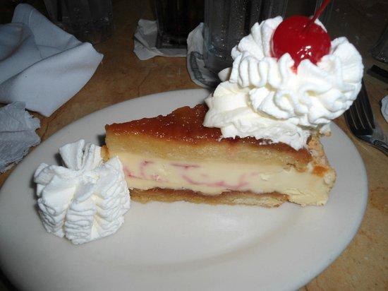 The Cheesecake Factory: pineapple cheesecake