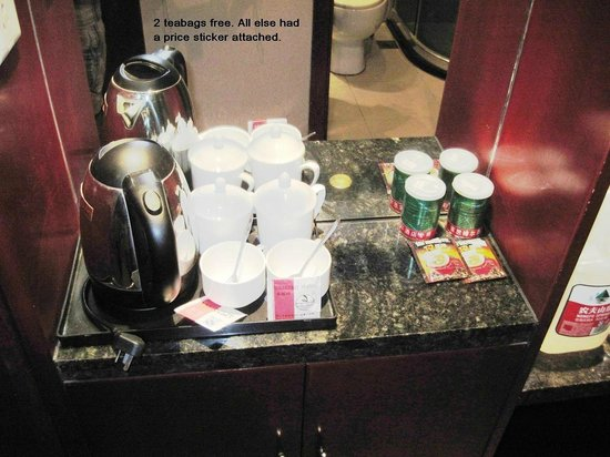 Jiasiboer Hotel: Coffee and other items available to purchase.