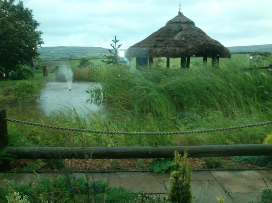 Cross Butts Stables Restaurant: Terrific view even with horizontal rain.