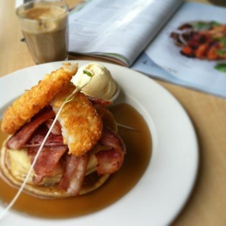 Barmah Park Vineyard Cafe: Mmmm Canadian Pancakes!
