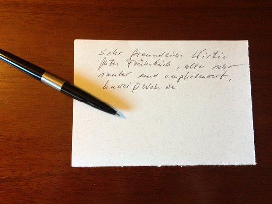 Sweet Home B B&B : ... classe 1931 ... carta e penna per lasciare una bella recensione, grazie!