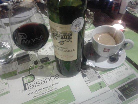 Le Plaisance : good wine, good coffee, good food ...