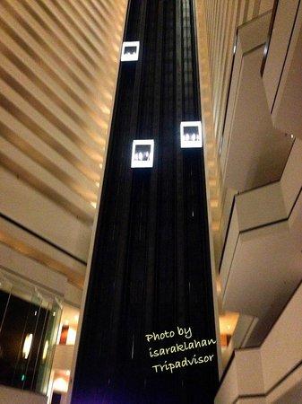 Hyatt Regency Houston: Cool elevator i like