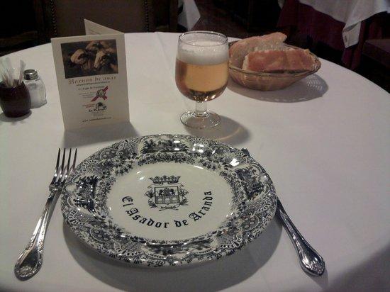 Restaurante El Figón de Recoletos : la mesa