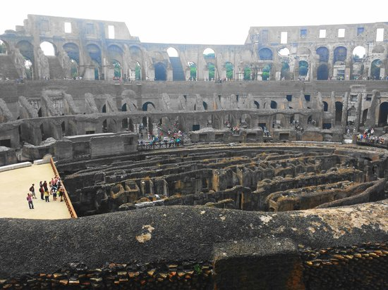 Bob's Limousines & Tours in Rome: 4000 Gladiators and animals that lived under the floor in the Colosseum.