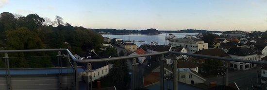 Scandic Grimstad : Vue depuis la terasse sur le toit