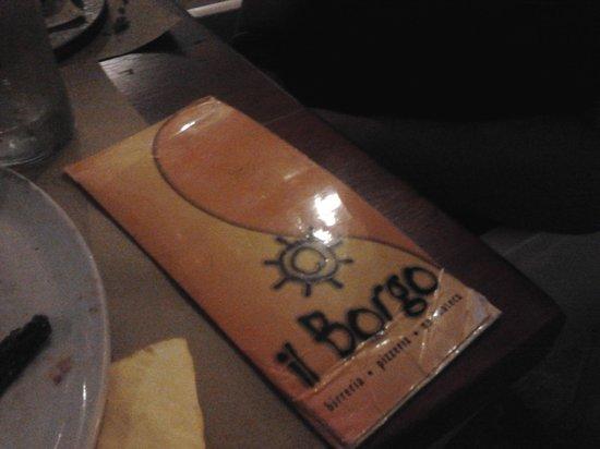 Il Borgo : menu