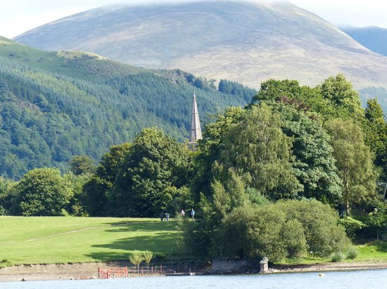 Hillside: View of St Johns from the lake