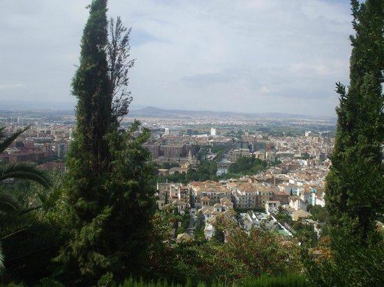 Carmen de los Martires: Vistas de Granada desde el mirador