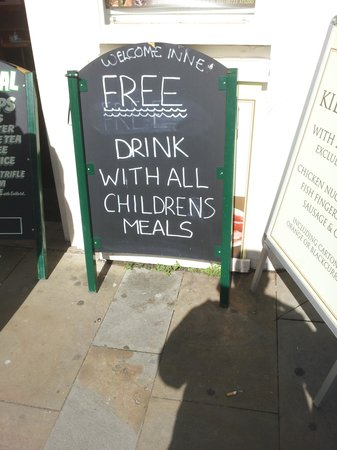 The Welcome Inn: Are kids drinks free or not???