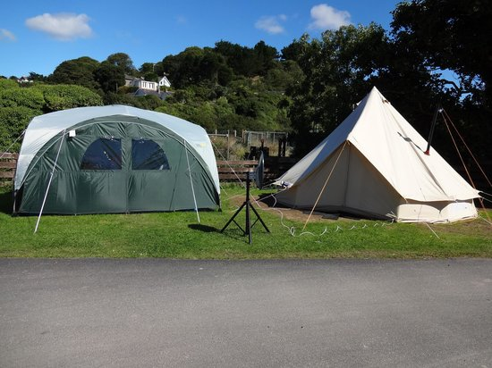 Pentewan Sands Holiday Park: Our Bell Tent & Event Shelter