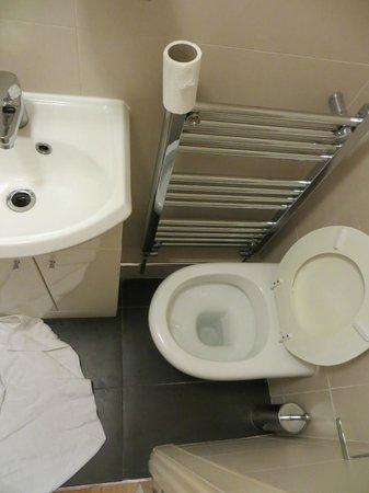 Pembury Hotel: Onbruikbaar toilet en minuscule wastafel