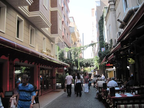 Outside the Hotel Sultania