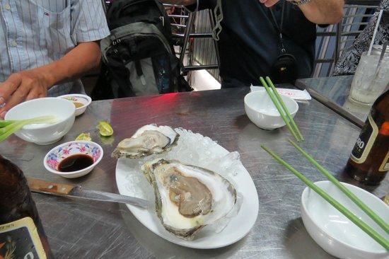 Saigon Street Eats: wasabi oyster