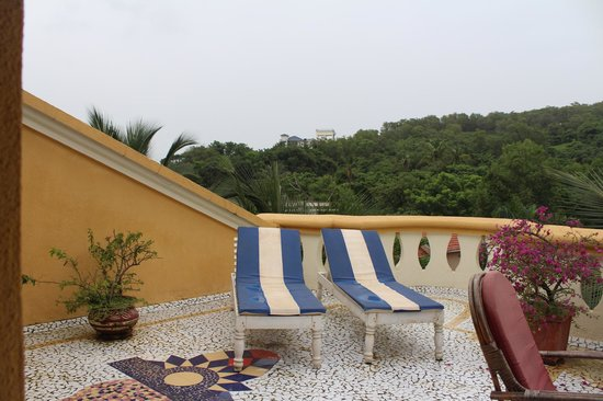 Bougainvillea Guest House Goa: view from terrace penthouse