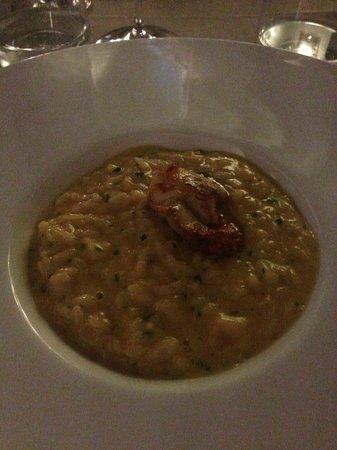 Brig Restaurant : Risotto con purea di zucca e cappesante alla plancha