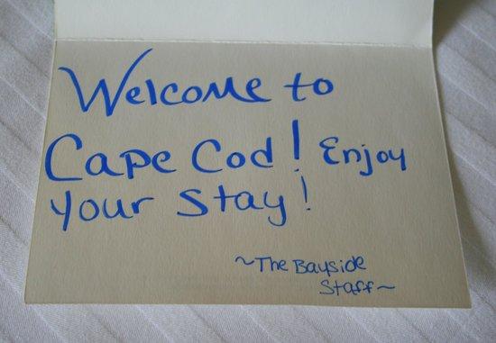 Bayside Resort Hotel: Karte auf dem Zimmer