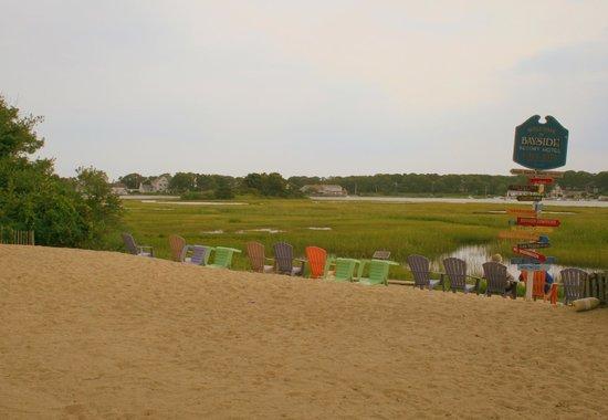 Bayside Resort Hotel: Aufgeschütteter Sandstrand