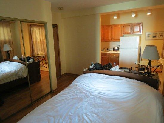 Dewitt Hotel & Suites: vue cuisine
