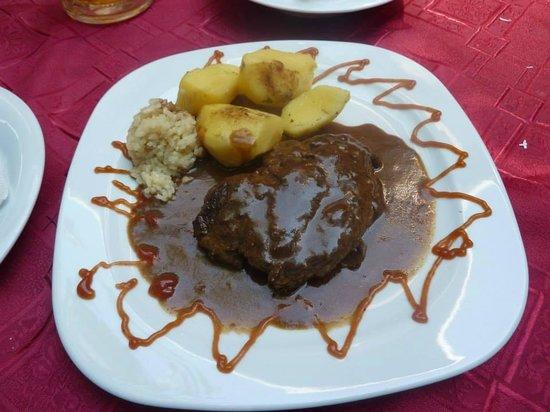 Restaurant Kaj Marsalot: Steak with pepper sauce
