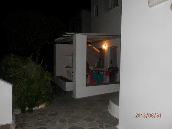 Hotel Aegean Village: terrasse des studios