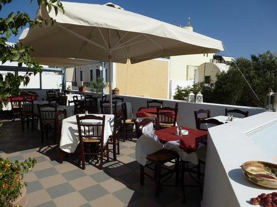 Kyprida Restaurant: terrasse