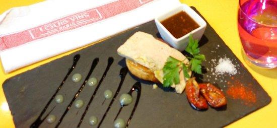 Le Louis Vins: Appetizer: Foie gras on mango tart