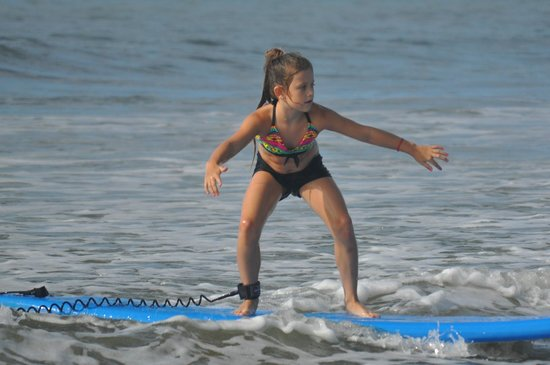 Charleston Surf Lessons: Genevieve loved surfing