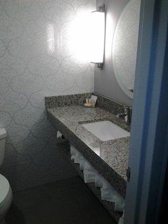 Comfort Inn Williamsburg Gateway: Tiny bathroom