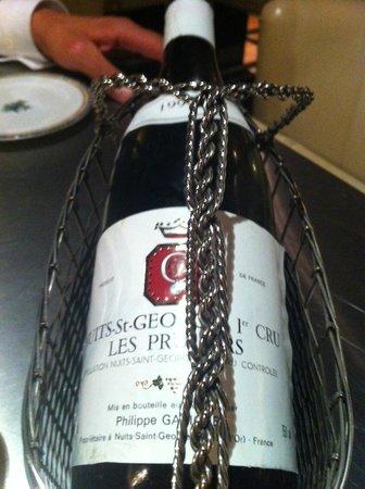 La Gentilhommiere : Très bon vin conseillé par le sommelier