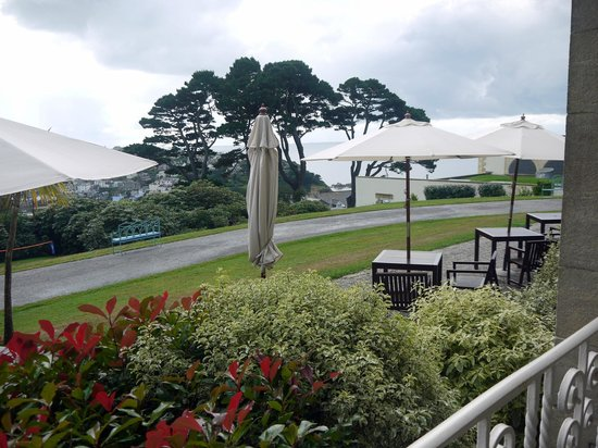 Fowey Hall: View towards open Sea