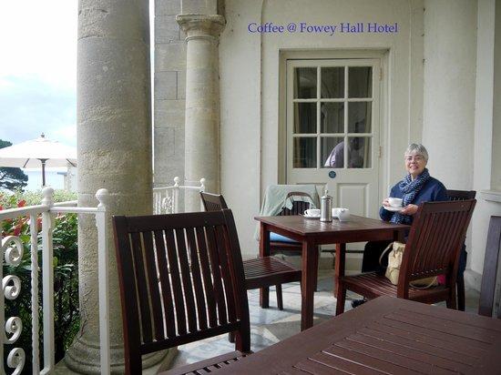 Fowey Hall: Coffee @ Portico