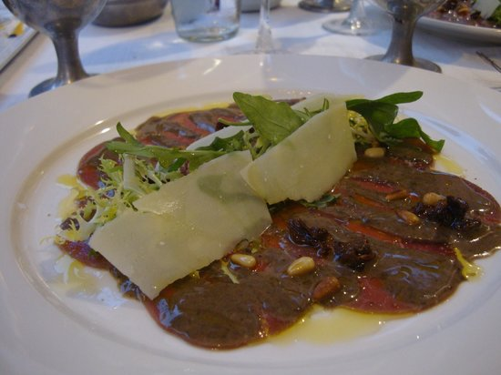 Restaurante Satyricon: CARPACCIO SOLOM.