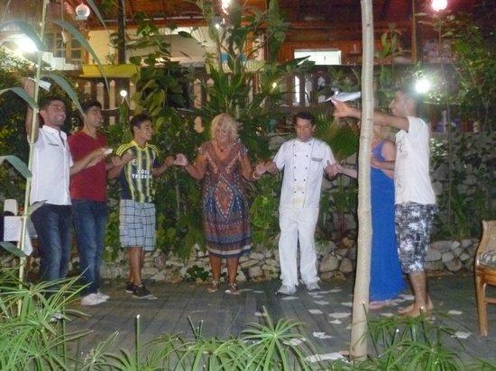 Arikanda River Garden Hotel: Turkish dancing by the staff