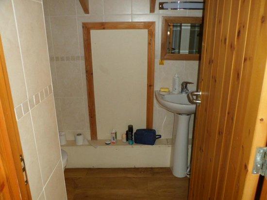 Forest Holidays Strathyre, Scotland: Upstairs en suite shower room
