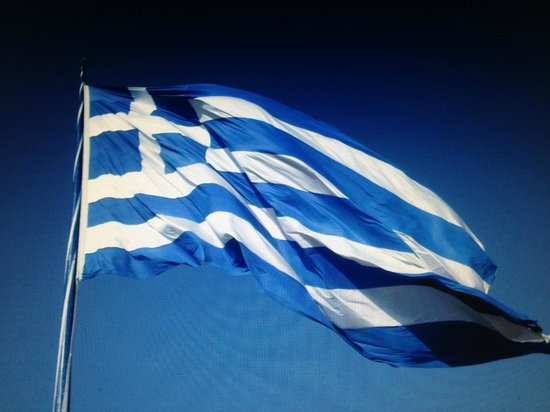 Villa Christina : The Greek flag at the Keri village