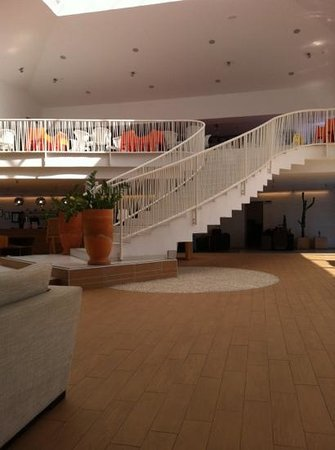 Be Live Experience Lanzarote Beach: upstairs entertainment and the reception below