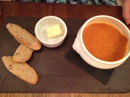 The Bull and Willow Room at Great Totham: Soup starter