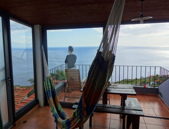 Calhau Grande: la vue dans le gite tenda