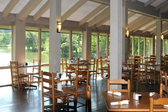 Peaks of Otter Lodge  Restaurant: Dining Room with a view